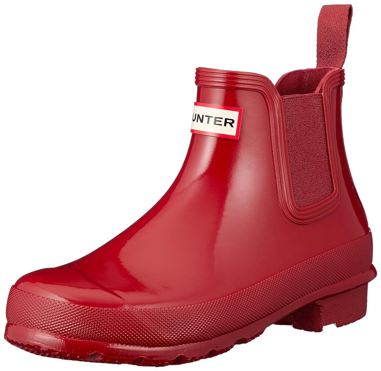 Hunter Women's Original Chelsea High-Top Rubber Rain Boot B079R4PQ97 7 B(M) US|Military Red