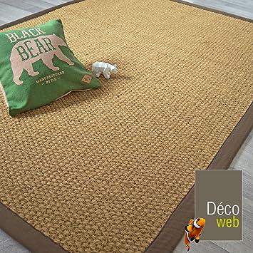 Incroyable Decoweb Tapis Coco Delhi   Panama   Ganse Coton Marron (140 X 200 Cm)