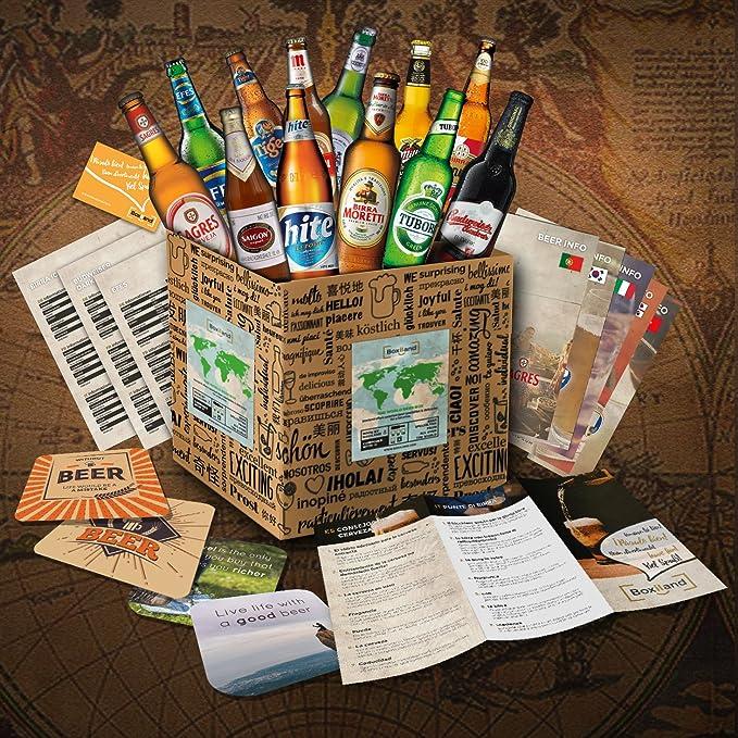CERVEZAS DEL MUNDO Original caja de regalo con las 12 mejores cervezas del mundo El mejor detalle para un amigo novio hermano padre o abuelo: Amazon.es: Alimentación y bebidas