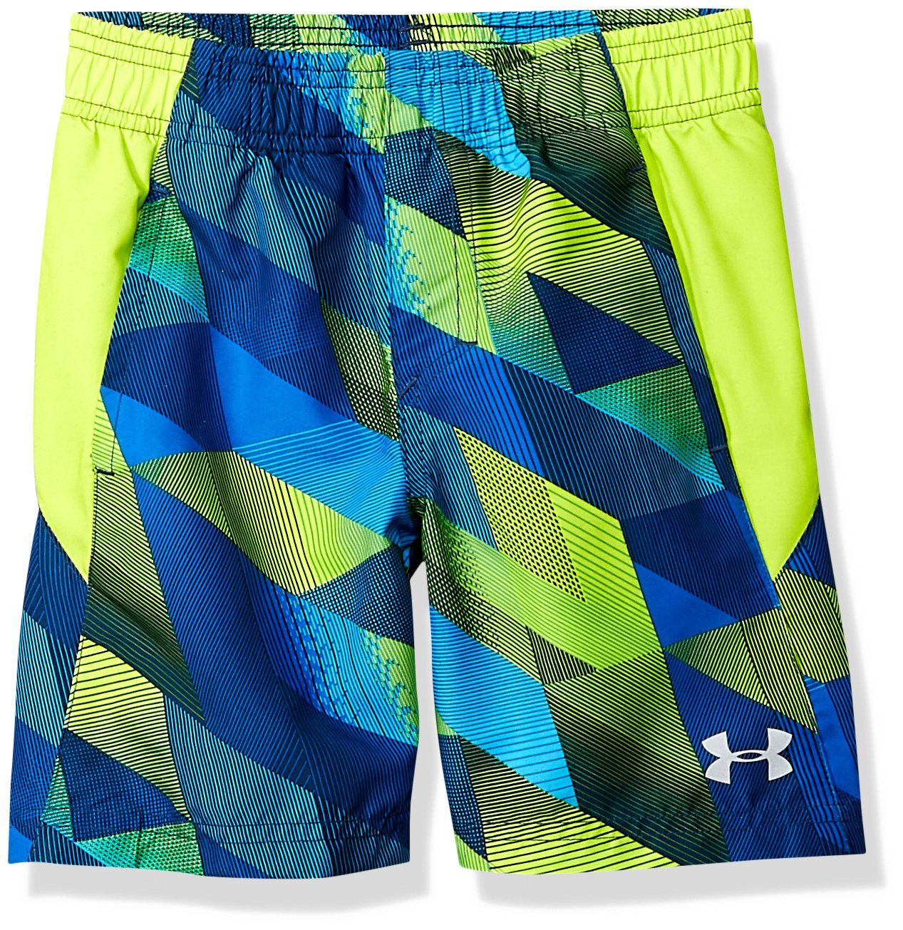 Under Armour Boys' Big Volley Fashion Swim Short, neon Green/vis Yellow, Medium