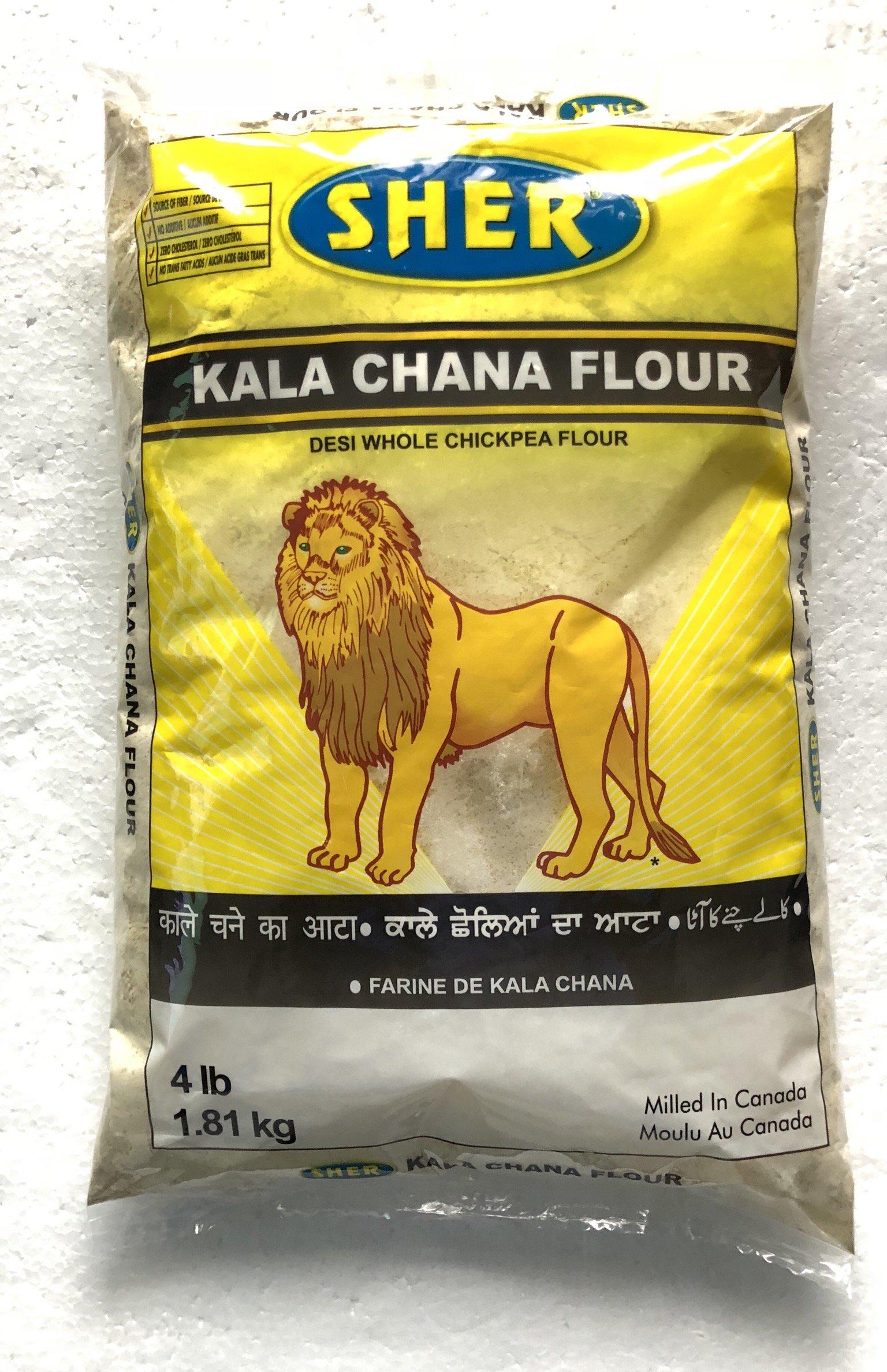 Sher Kala Chana Besan (Desi Whole Chickpeas Flour) - 4 lbs