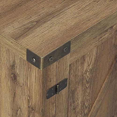 FurnitureMaxx 58″ Barn Door TV Stand