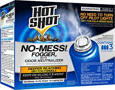 Hot Shot 100047495 HG-20177 No Mess Fogger, Aerosol, 3/1.2-Ounce, Model:100047, Case Pack of 1