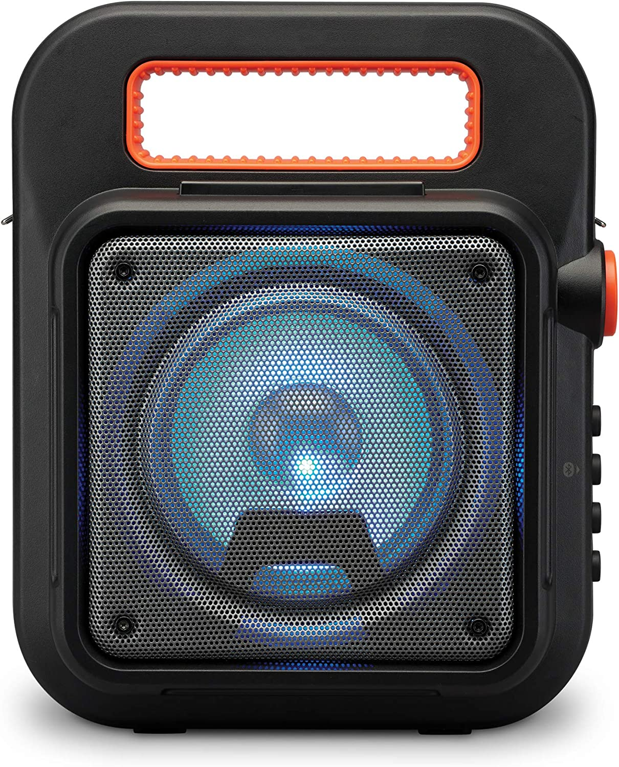 iLive ISB309B Wireless Tailgate Party Speaker, with LED Light Effects and Built-in Rechargeable Battery, Black