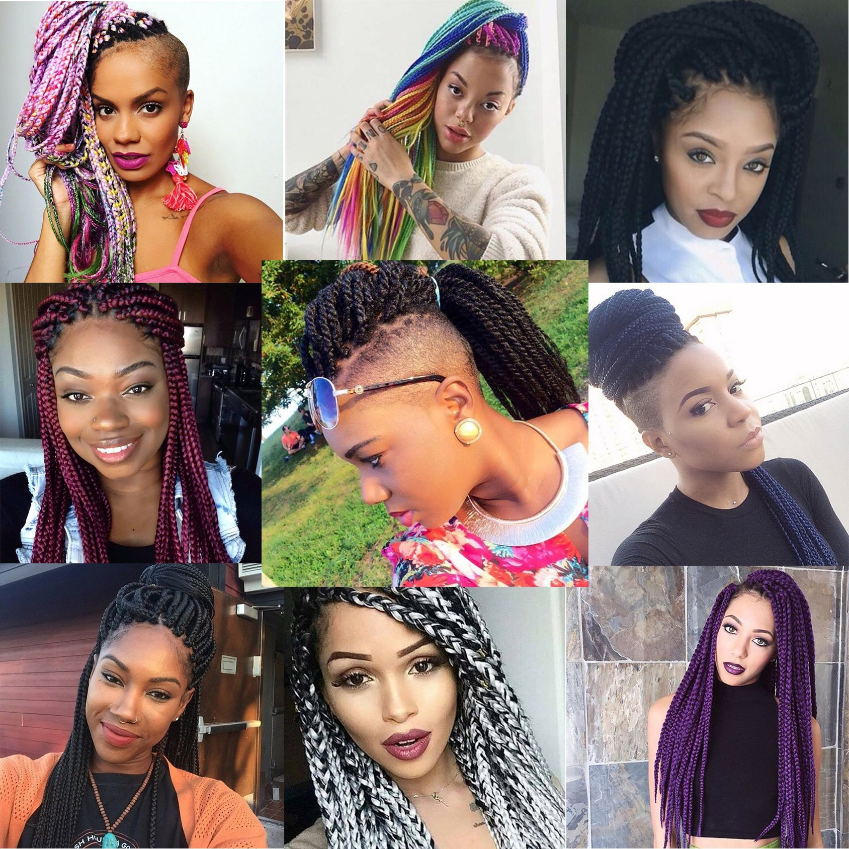 Image result for Style collage of African American hair