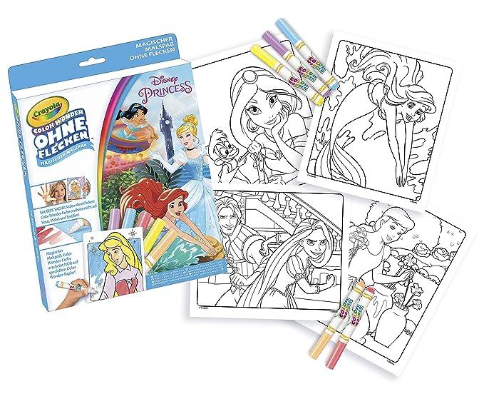 Crayola 12785.4100 - Color Wonder - Disney Princess Malbuch, bunt ...