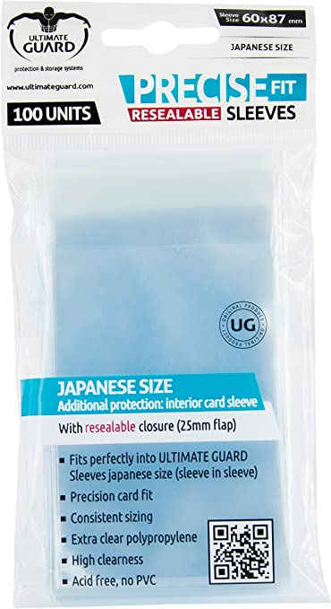 Precise-Fit Resealable Sleeves Clear Ultimate Guard GAMING SUPPLY NEW 100ct