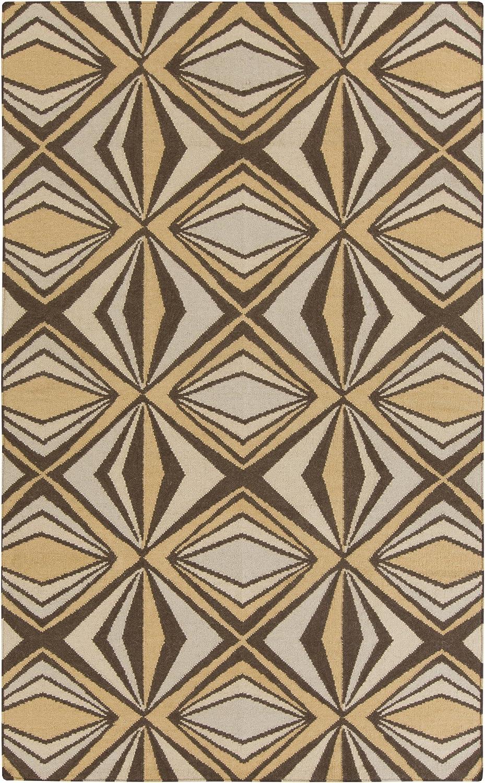 Amazon Com Surya Voyages Area Rug 2 X 3 Gold Chocolate Beige Furniture Decor