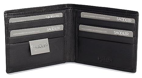SADDLER Portafoglio con 8 Sezioni per Carte di Credito e 2 Sezioni per  Banconote in Morbida fee8509733d