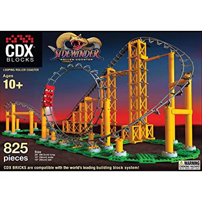 CDX Blocks The Sidewinder Roller Coaster: Toys & Games
