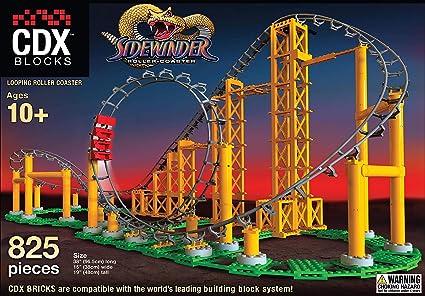 CDX Blocks Brick Construction Roller Coaster Building Set Lego Compatible Toy