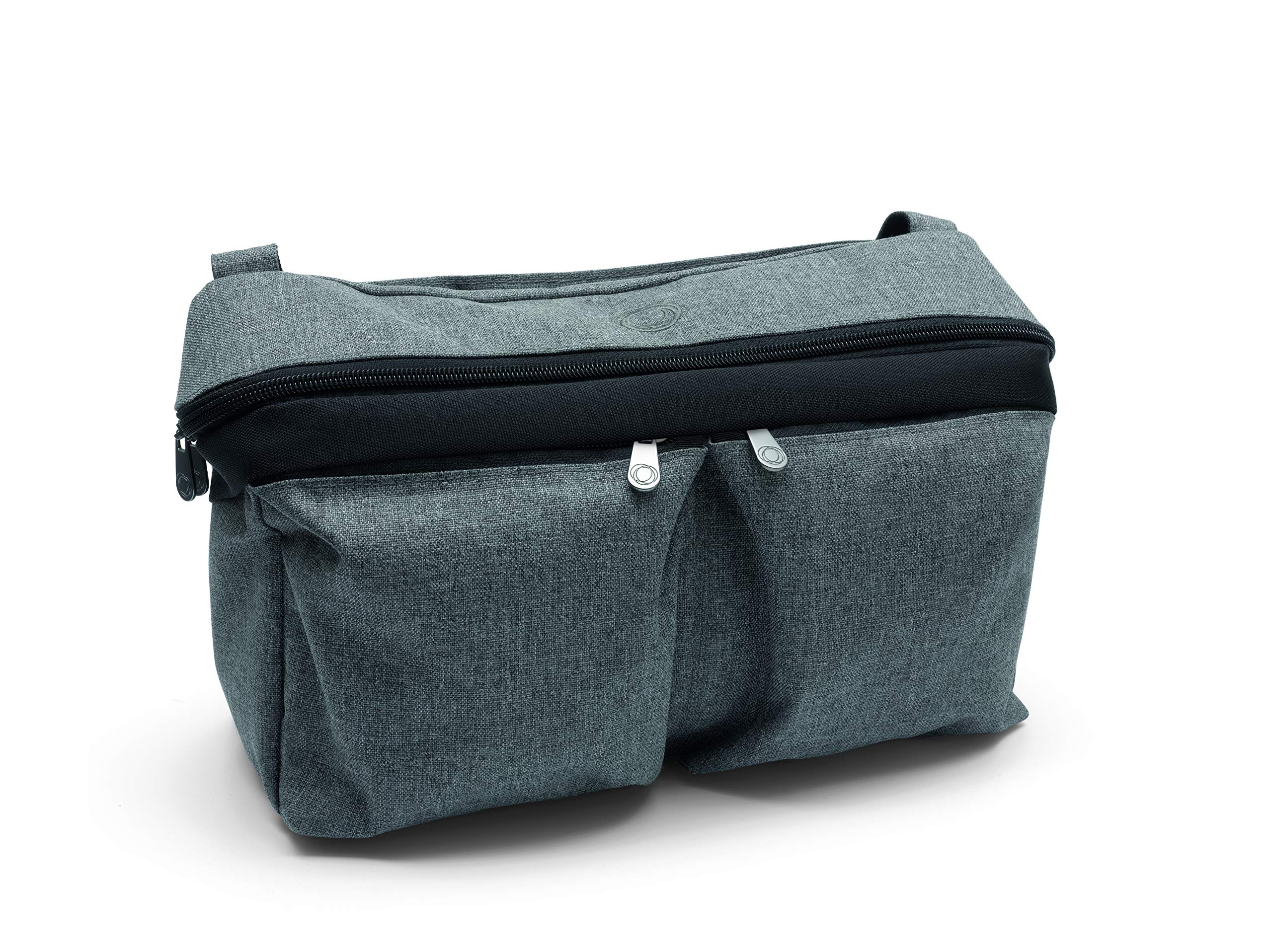Bugaboo Stroller Organizer, Grey Mélange - Compatible with Any Stroller - Attaches to the Handlebar or Behind the Seat, Converts into a Diaper Bag Tote