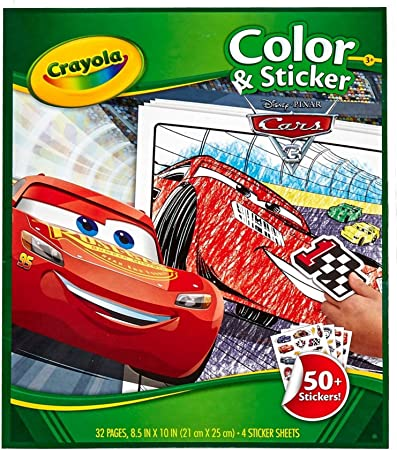Crayola 04 0128 0 000 Album Da Colorare E Di Adesivi Cars 3 Amazon It Giochi E Giocattoli