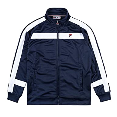 Fila Vintage Mens Renzo Panelled Track Jacket, Blue, Small