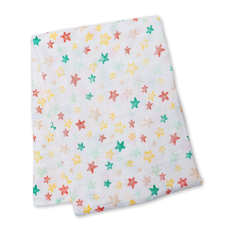 120/x 120/cm Lulujo Baby l2-lj431/Cubierta de muselina de algod/ón estrella brillante