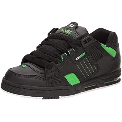 Globe Sabre Mens Trainers Black Green - 10.5 UK