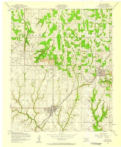 Amazon.com: Oklahoma Maps | 1956 Cyril, OK USGS Historical ...