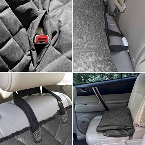 Perfect Pet Seat Cover – Dog and Cat Car Seat Cover Hammock – Waterproof and Machine Washable – Non-Slip Quilted Technology to Protect Seats in Cars, Trucks, SUVs and Vans from Stains and Hair