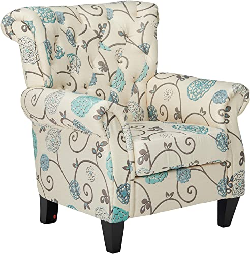 Christopher Knight Home Greggory Floral Fabric Tufted Chair