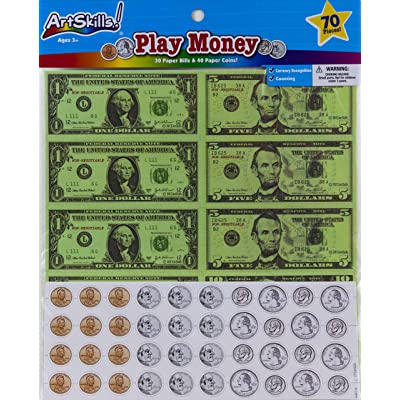 Art Skills - Play Money - 70 Piece Set: Toys & Games