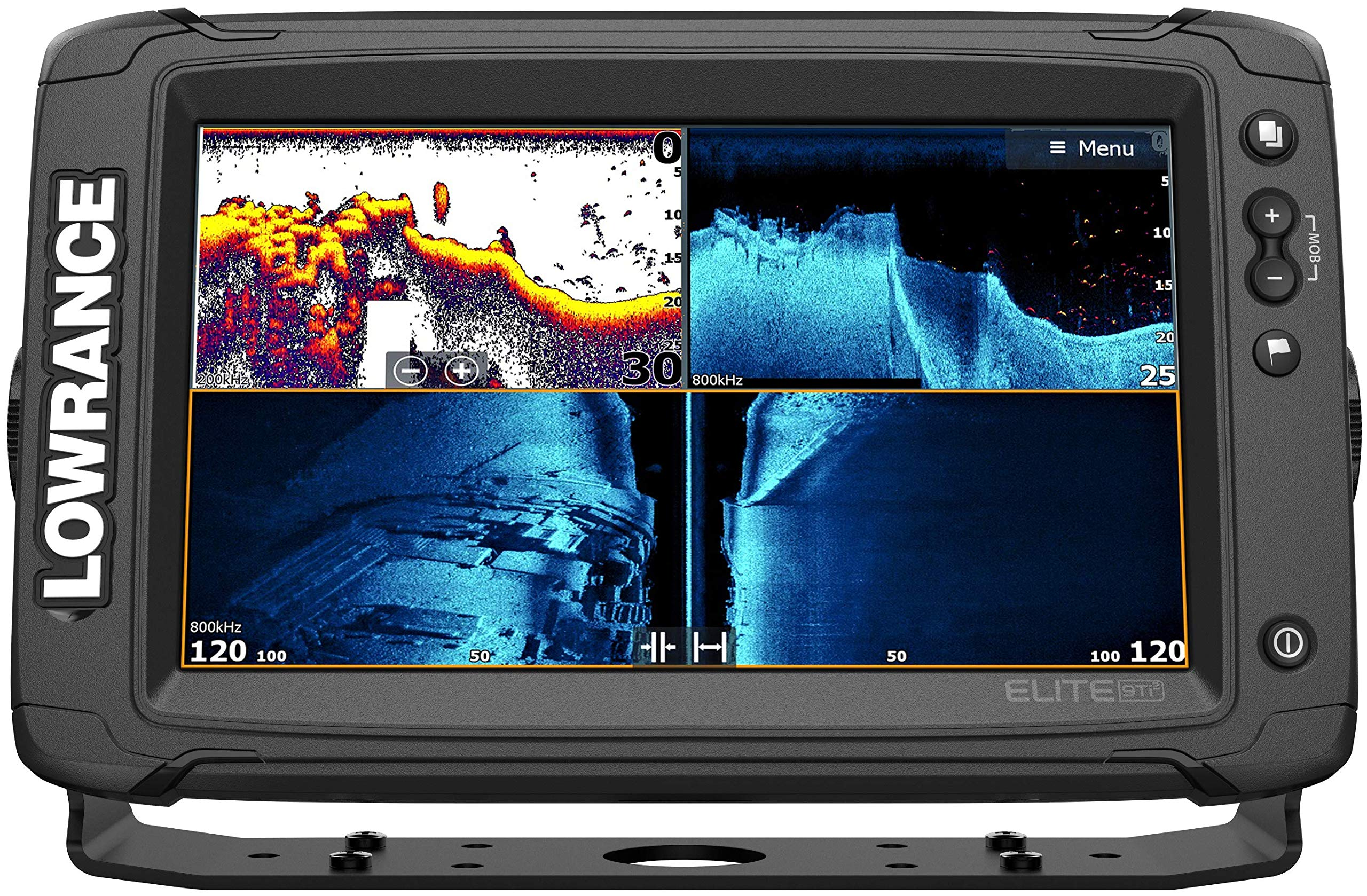 Elite-9 Ti2-9-inch Fish Finder Active Imaging 3-in-1Transducer, Wireless Networking, Real-Time Map Creation Preloaded C-MAP US Inland Mapping ... by Lowrance