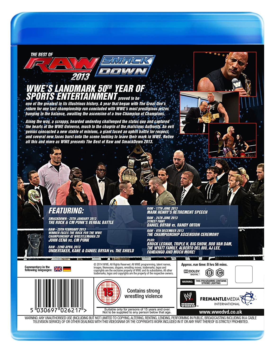 WWE: The Best Of Raw And Smackdown 2013 [Blu-ray]: Amazon co