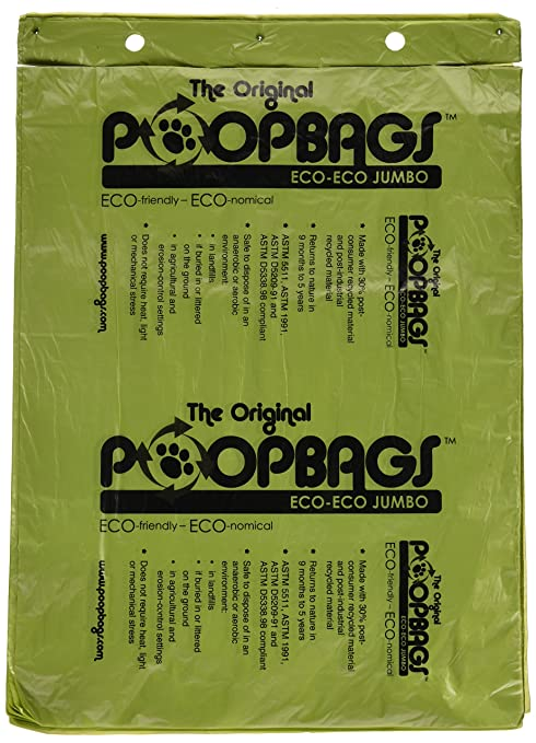 El Original poopbags perro bolsas de basura, 10 x 13: Amazon ...