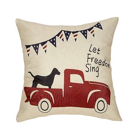 Amazon.com: Fjfz - Funda de almohada decorativa para el ...