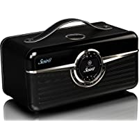 VQ Susie-Q | Smart Radio & HiFi Speaker – Featuring DAB / DAB+ Digital & FM Radio, Internet Radio and Bluetooth / NFC with Spotify Connect & Multi-Room (UNDOK – Android & iOS App) – Jet Black Leather