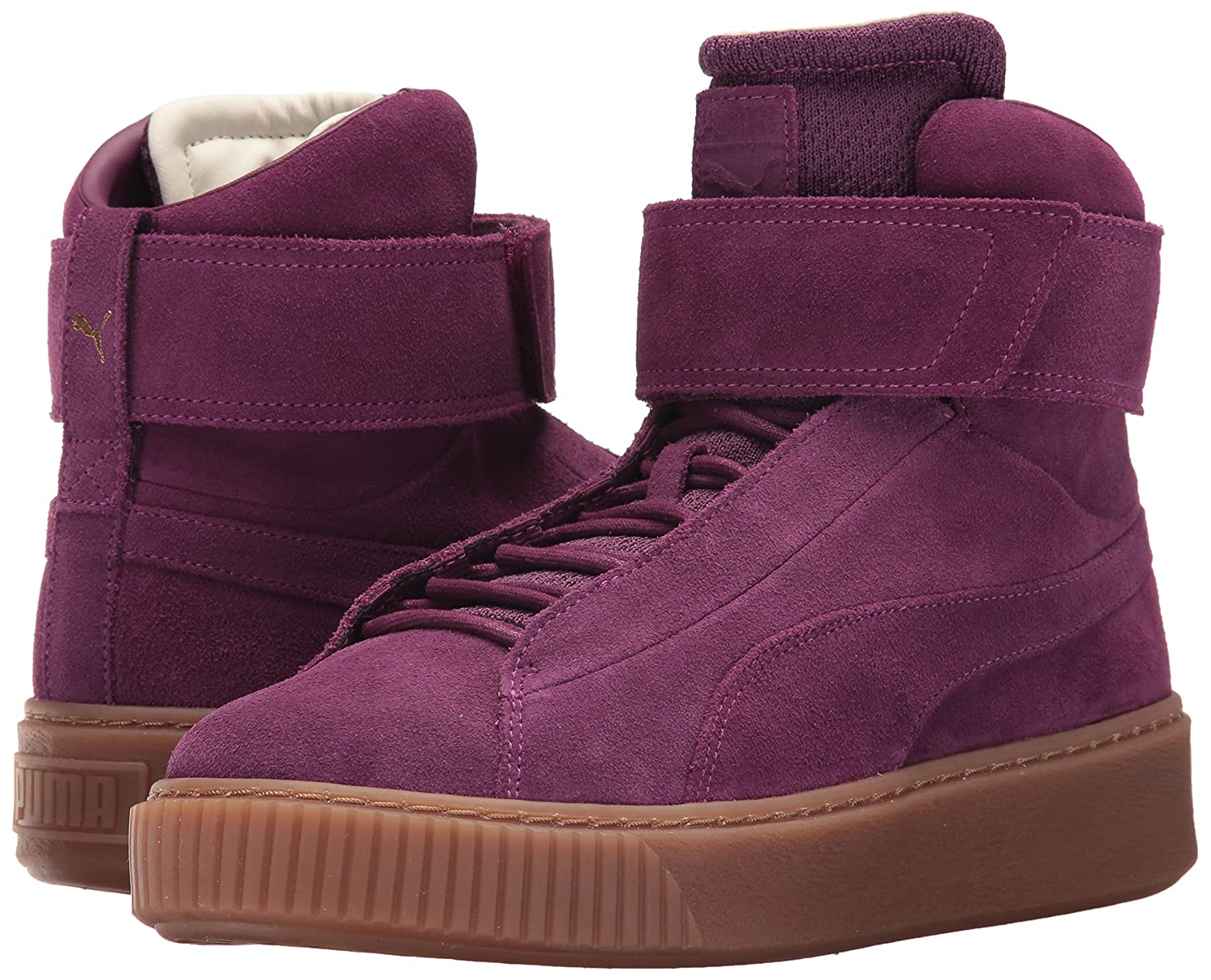PUMA Women's Mid OW Wn Platform B01MQWNOZT 7.5 M US|Dark Purple-dark Purple