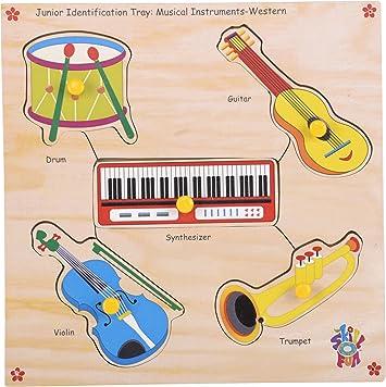 Skillofun Wooden Junior Identification Trays - Western Musical Instuments