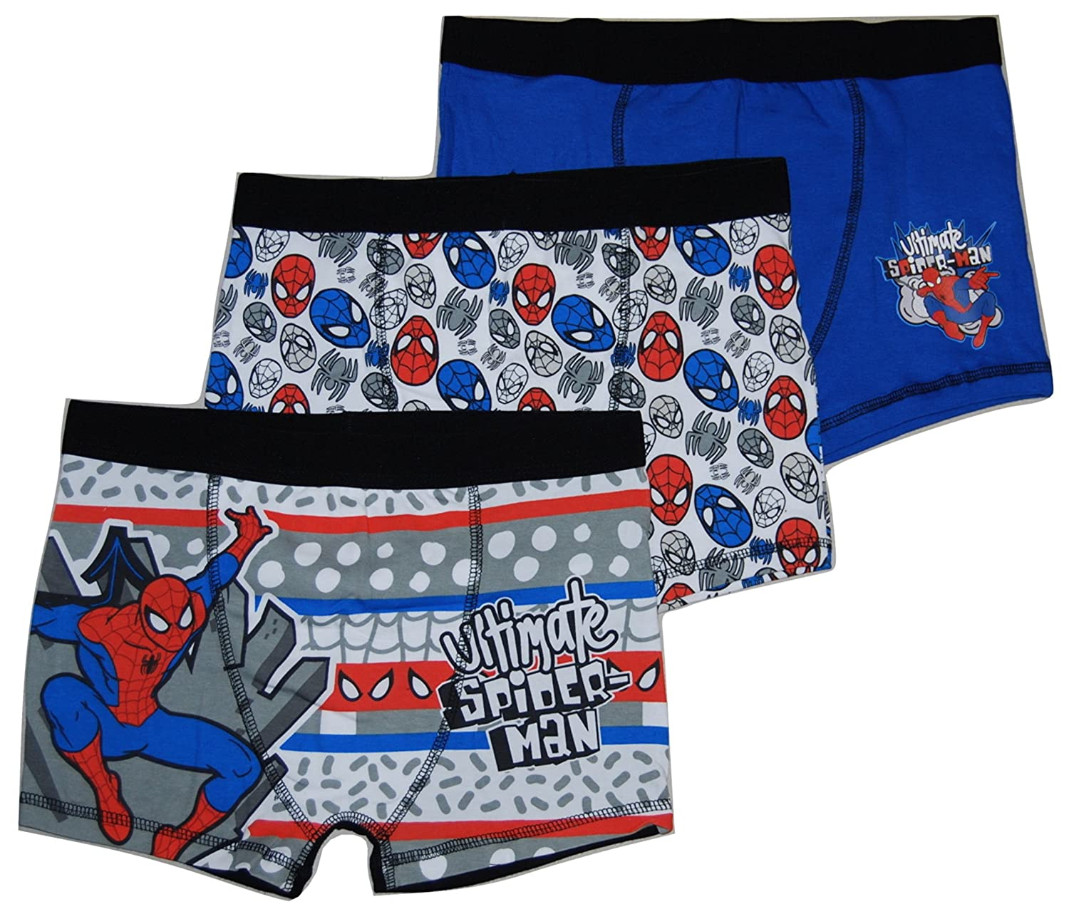 Boys Boxer Shorts 3 Pairs Marvel Spiderman Trunks