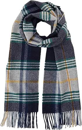 GANT D2. Twill Checked Wool Scarf Bufanda, Gris (Light Grey Melange 94), Talla única (Talla del fabricante: Oversize) para Hombre