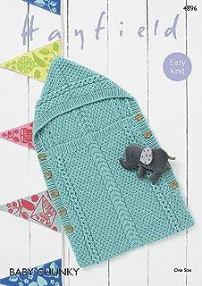 6687e78e506d King Cole Baby Robe   Sleeping Bag Knitting Pattern 4823 Chunky ...