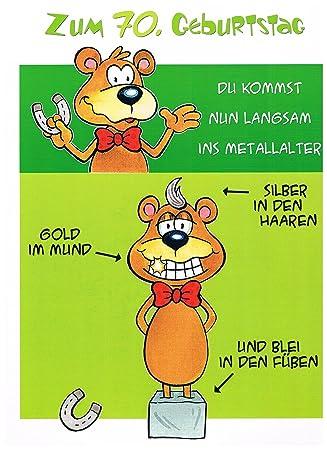 Geburtstagskarte Xxl Zum 70 Geburtstag Witzig Umschlag Amazon