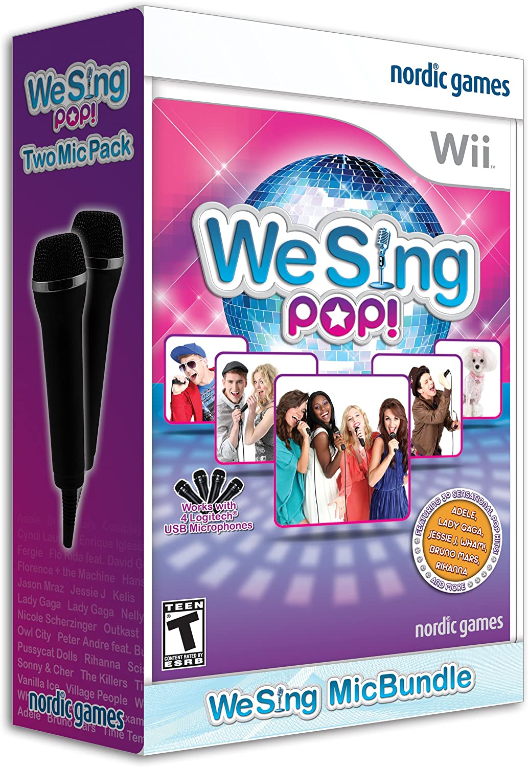 We Sing Pop with 2 Microphones - Nintendo Wii (2 Mic Bundle)