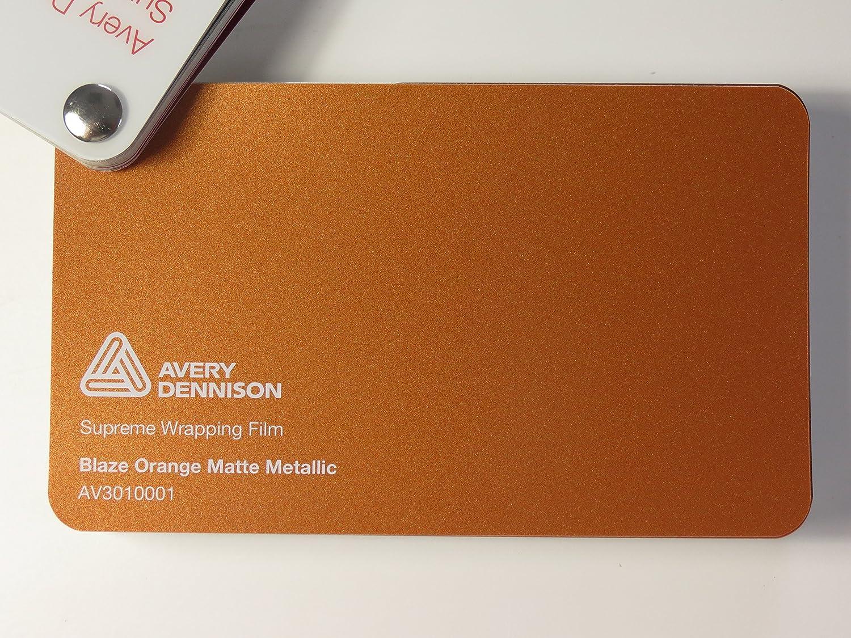 Avery Supreme Wrapping Film Serie Blaze Orange Matt Metallic gegossene Autofolie 500 x 152 cm Zuschnitt