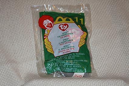 0175cfcd21e Amazon.com  Spike the Rhino - McDonald s Ty Teenie Beanie MIP - 2000 ...