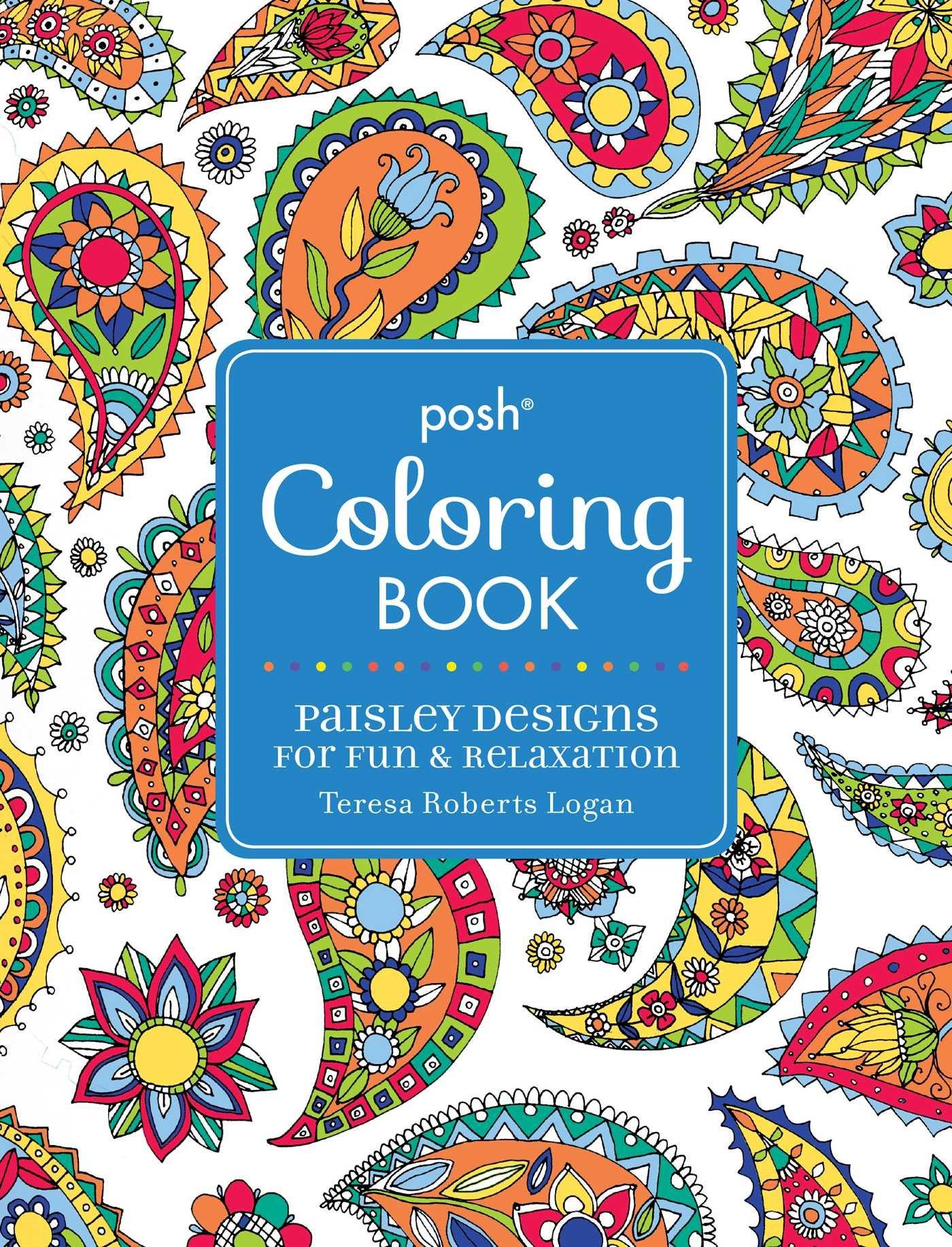 Amazon.com: Posh Adult Coloring Book: Paisley Designs for Fun ...