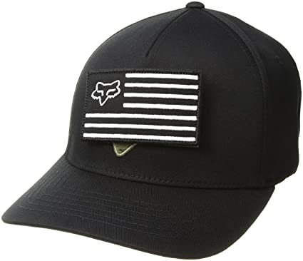 big sale e0c1e d7a17 Fox Men s Listless Flexfit Hat Baseball Cap Black Small Medium
