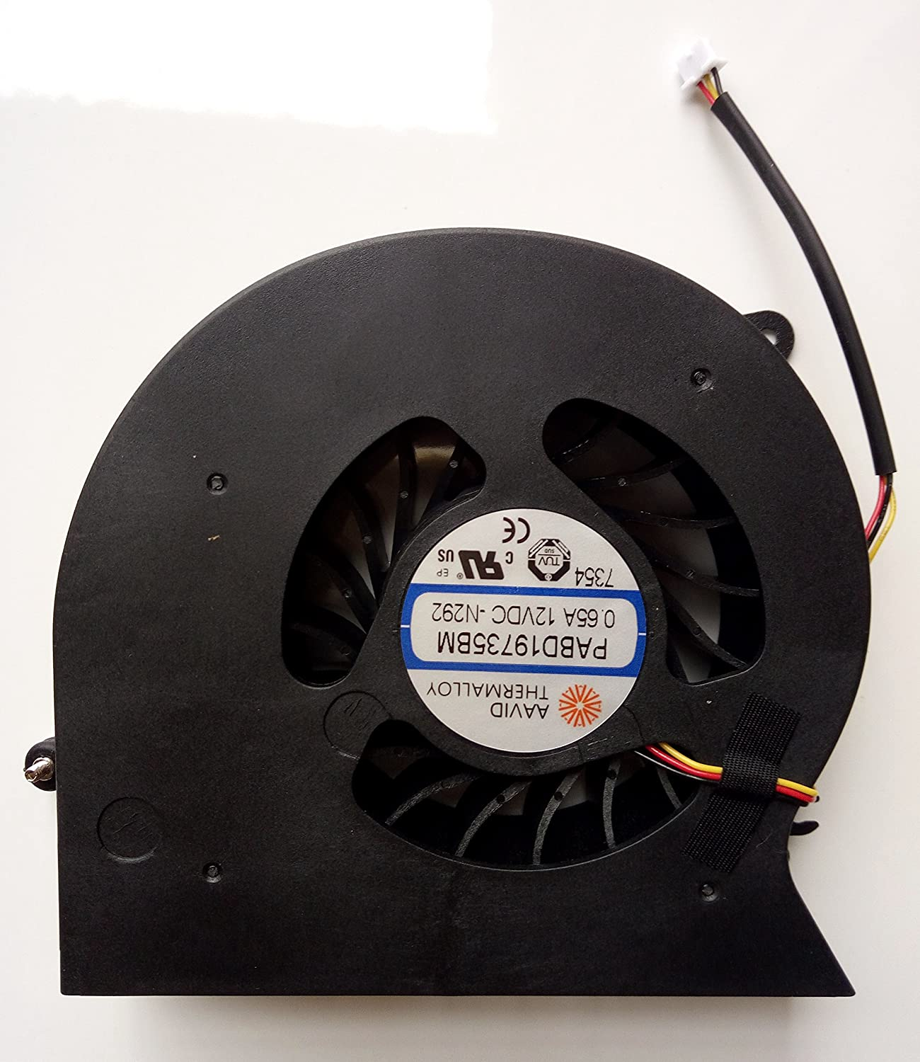 EJTONG New for MSI MS-1781 MS-1782 GT72 GT72S GT72VR Laptop CPU Cooling Fan PABD19735BM 0.65A 12VDC -N292
