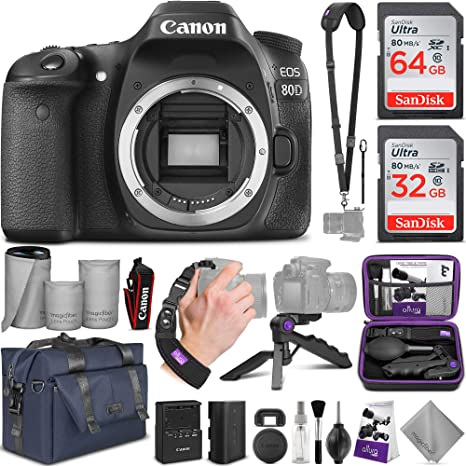 Canon EOS 80D DSLR Camera Body w/ Advanced Photo and Travel Bundle Cameras   Photography
