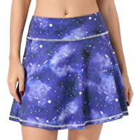 QING HONG Women's Gym Sports Skorts Active Running Tennis Skirt with Pockets