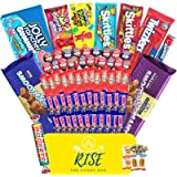Rise The Candy Box (70+ Count) - Assorted Bulk Candy - Gift Box Care Package for Adults, Teens and Kids - Full of…