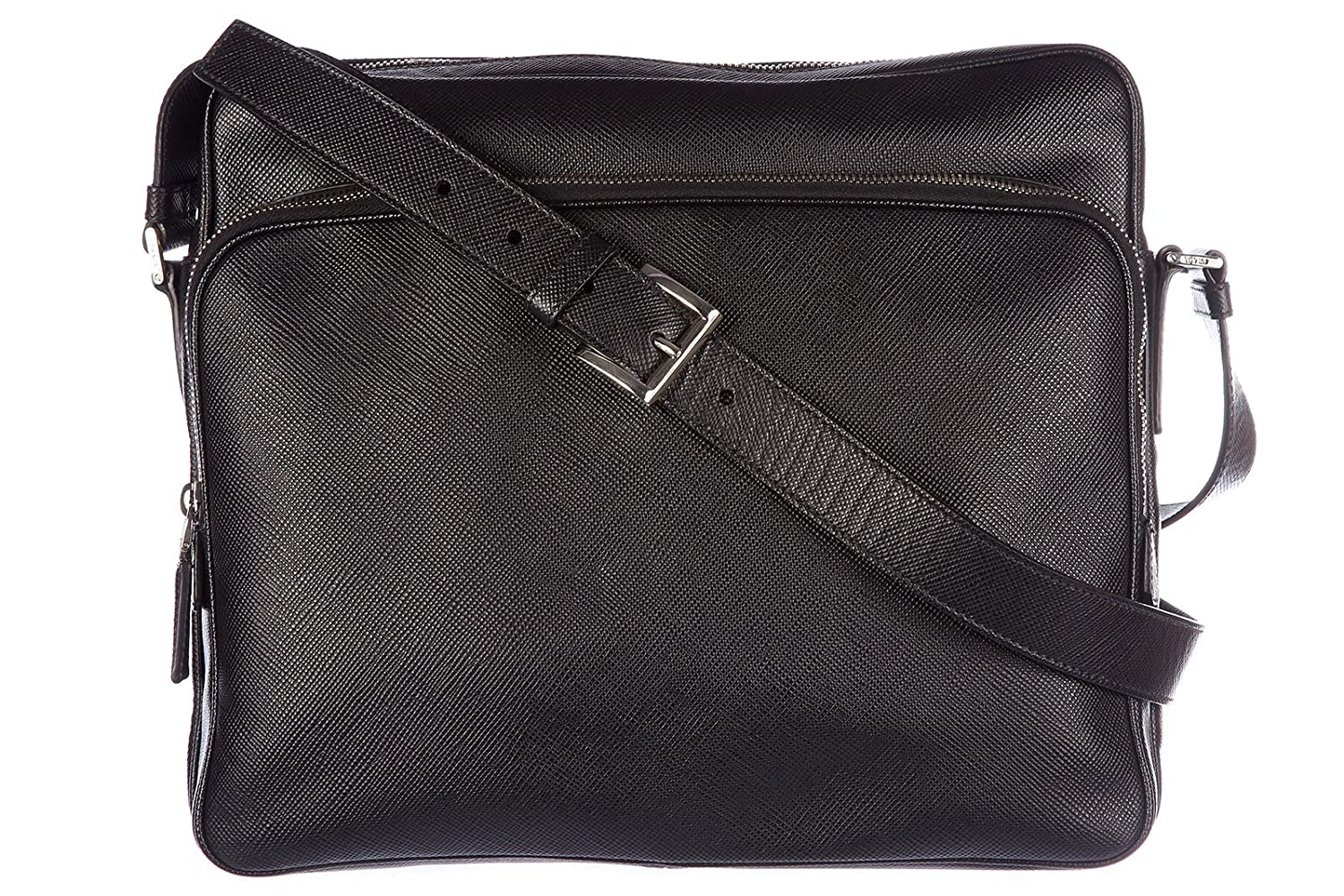 3a35de8b8e2d Amazon.com: Prada men's leather cross-body messenger shoulder bag bandoliera  saffiano black: Shoes