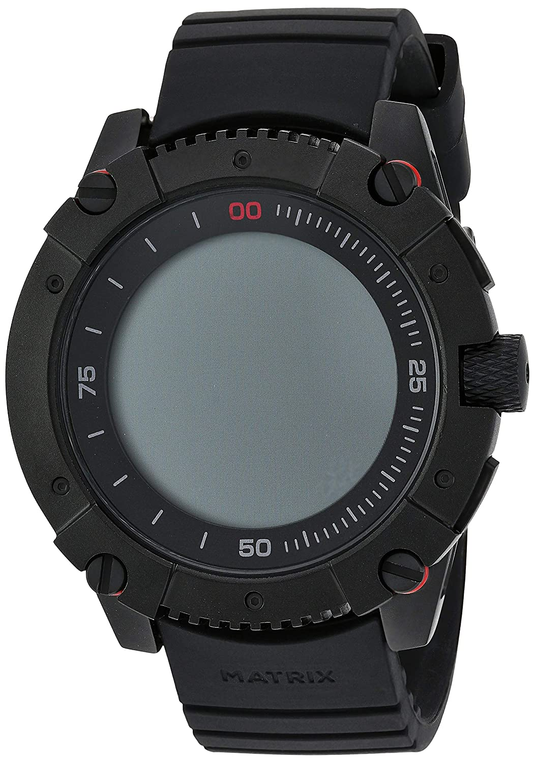MATRIX Industries - Smartwatch (Resistente al Agua 200 m, Funciona con Calor Corporal), no necesita recargar, con PowerWatch App - Color Negro