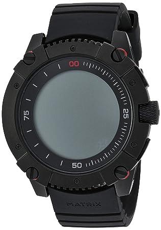 MATRIX Industries - Smartwatch (Resistente al Agua 200 m, Funciona con Calor Corporal), no necesita recargar, con PowerWatch App - Color Negro
