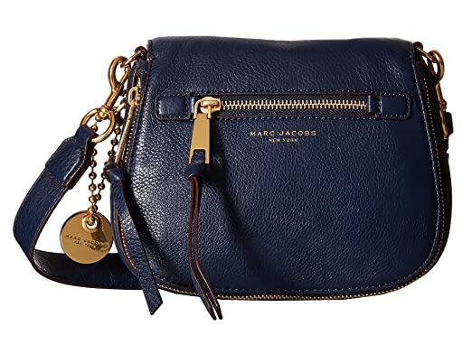 Amazon.com: Marc Jacobs Recruit Small Saddle Crossbody Bag, Navy ...