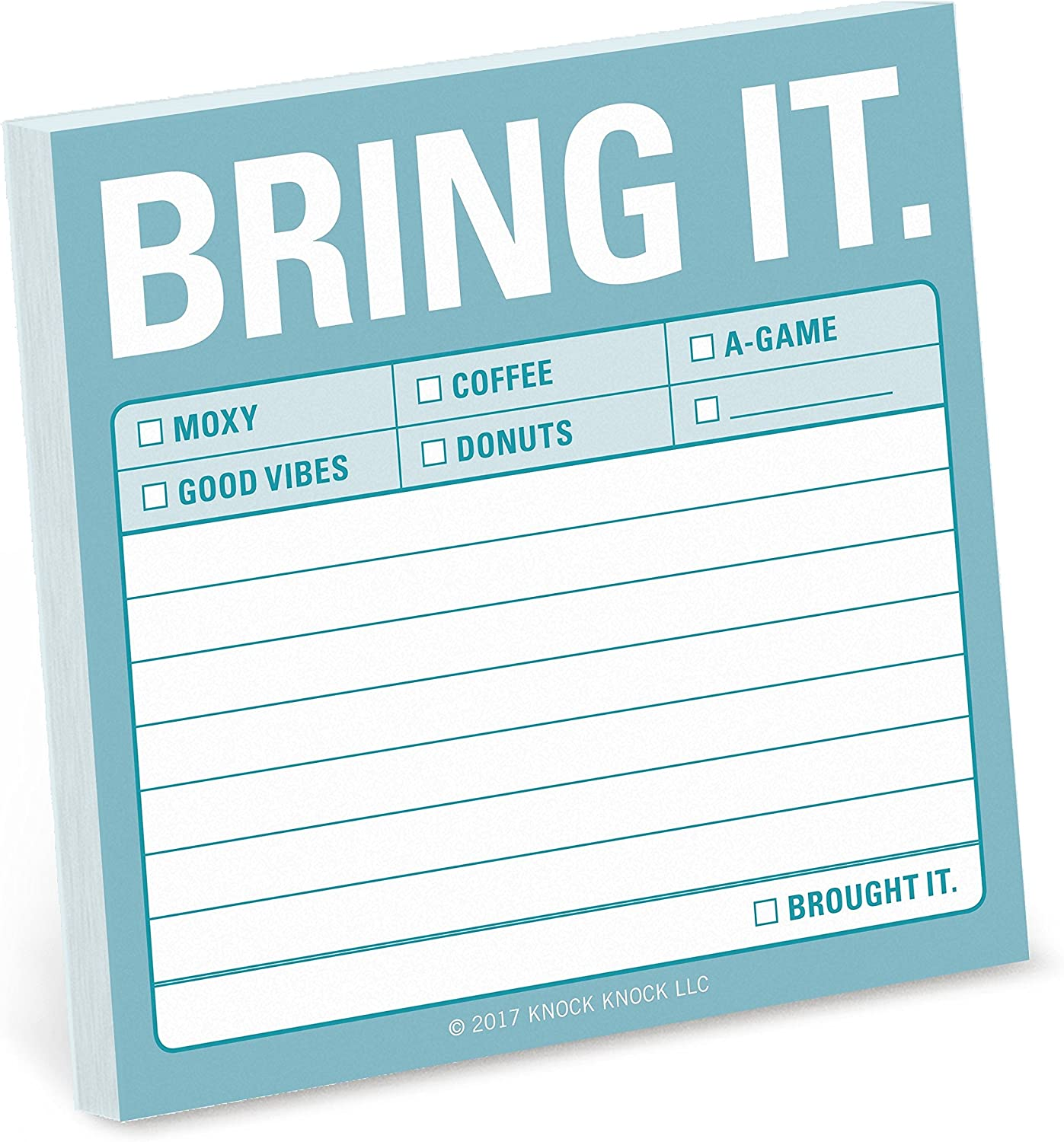 8-Pack Knock Knock Bring It Sticky Notes, Office Memo Sticky Notepad, 3 x 3-inches Each