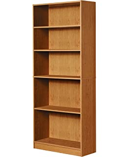 Mylex Five Shelf Bookcase Three Adjustable Shelves 1163 X 2963 715 Inches